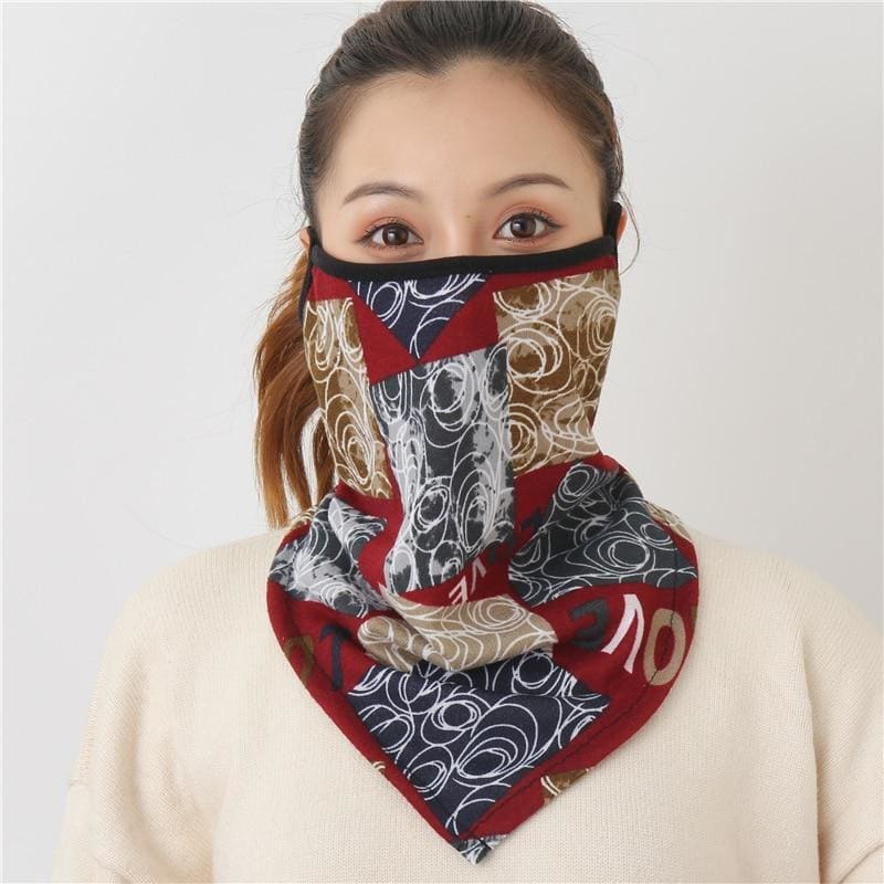 Cotton face cover scarf