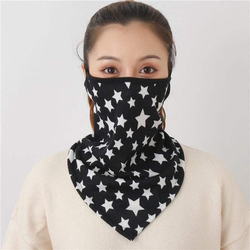 Cotton face cover scarf - mst-1