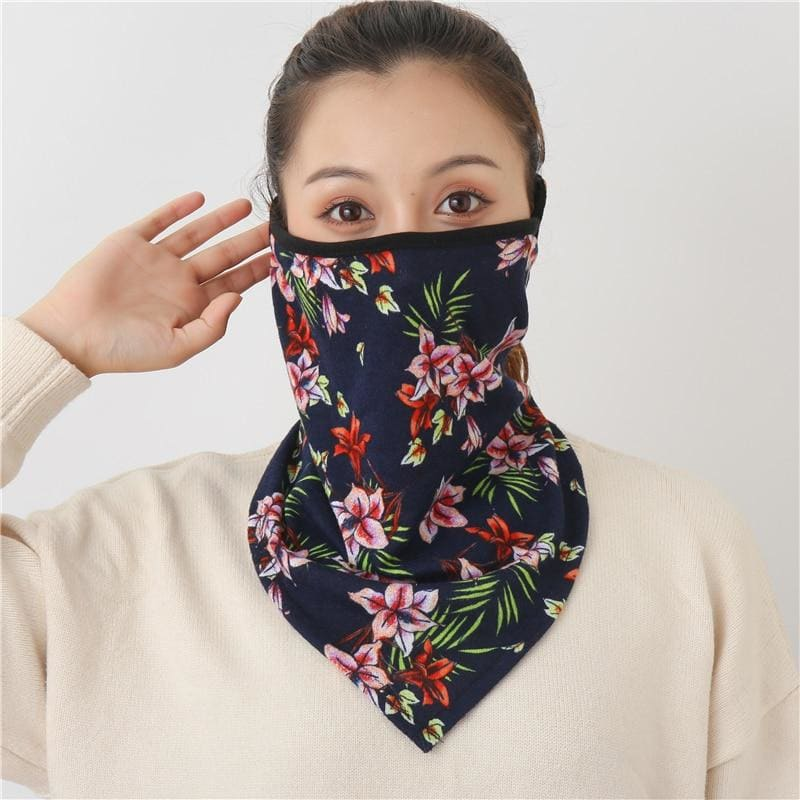Cotton face cover scarf - mst-10