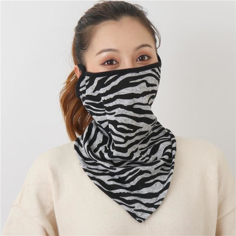 Cotton face cover scarf - mst-12