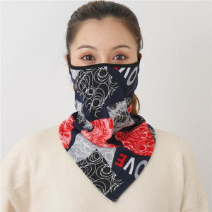 Cotton face cover scarf - mst-13