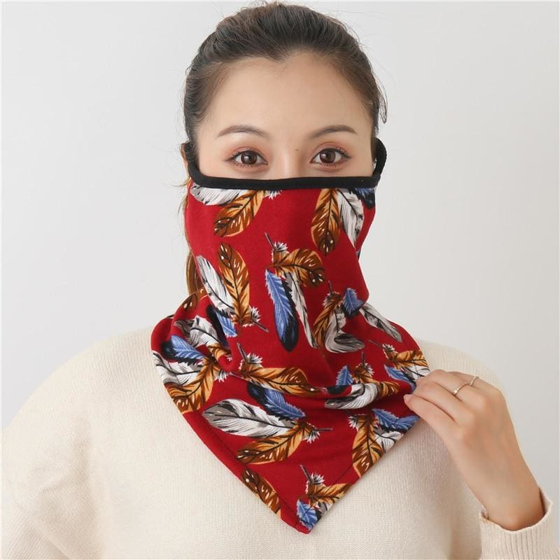 Cotton face cover scarf - mst-15