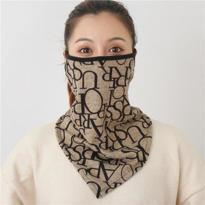 Cotton face cover scarf - mst-16