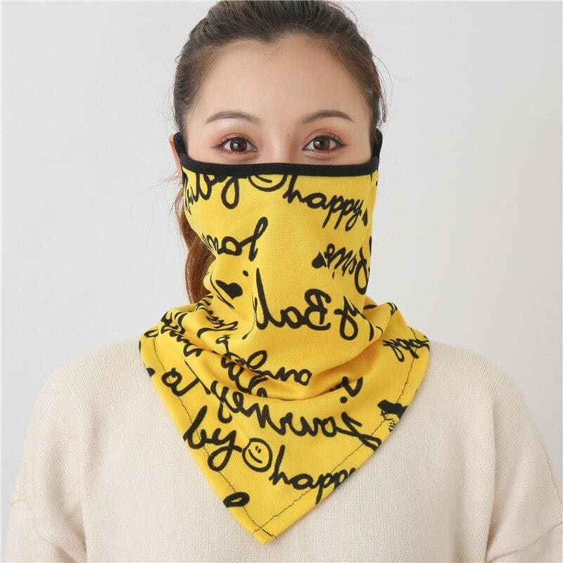 Cotton face cover scarf - mst-18