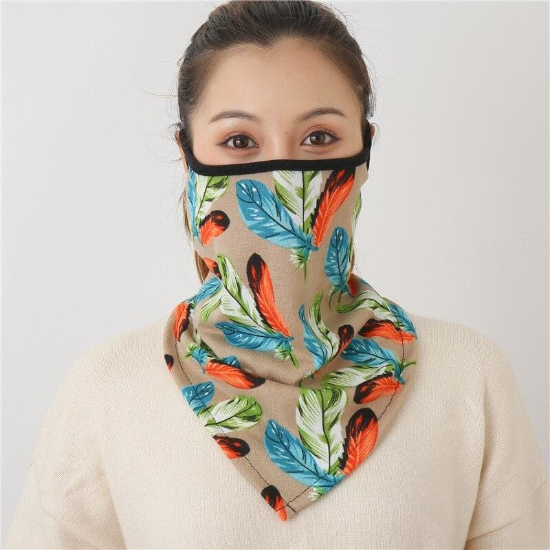 Cotton face cover scarf - mst-19