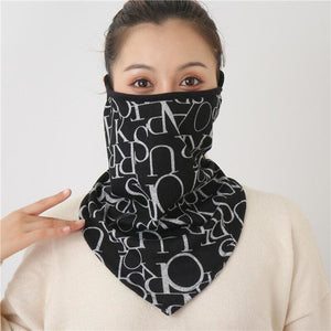 Cotton face cover scarf - mst-20