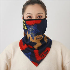 Cotton face cover scarf - mst-21