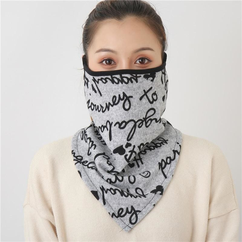 Cotton face cover scarf - mst-22
