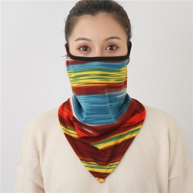 Cotton face cover scarf - mst-23