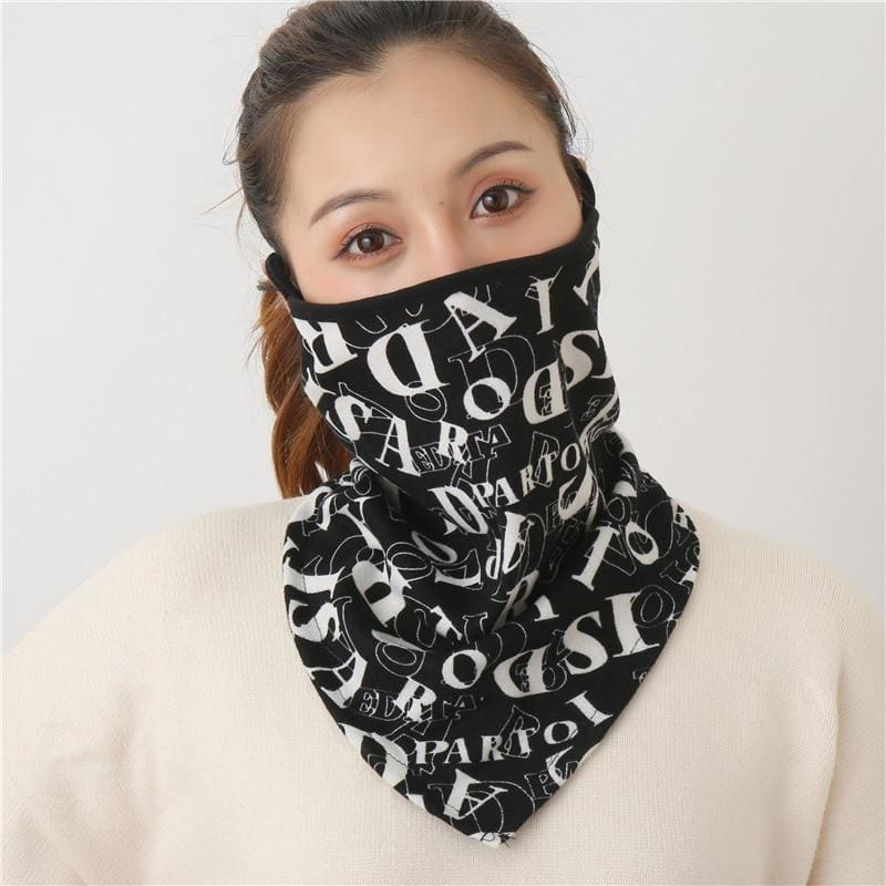 Cotton face cover scarf - mst-25