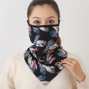 Cotton face cover scarf - mst-27