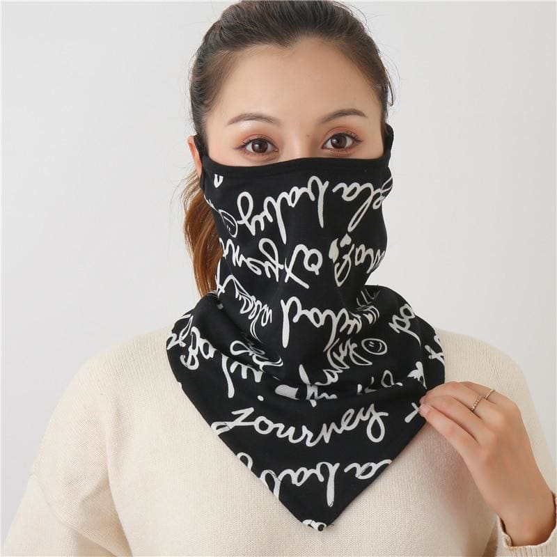 Cotton face cover scarf - mst-28