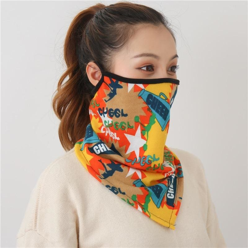 Cotton face cover scarf - mst-3