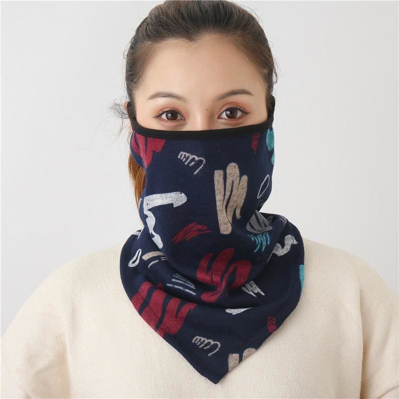 Cotton face cover scarf - mst-30