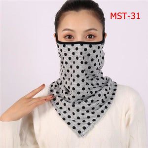 Cotton face cover scarf - mst-31