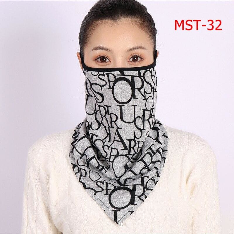 Cotton face cover scarf - mst-32