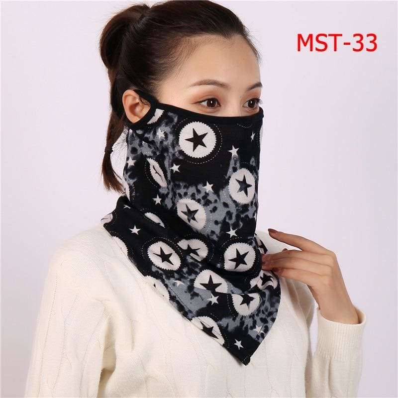 Cotton face cover scarf - mst-33