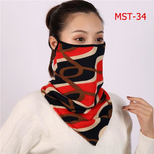 Cotton face cover scarf - mst-34