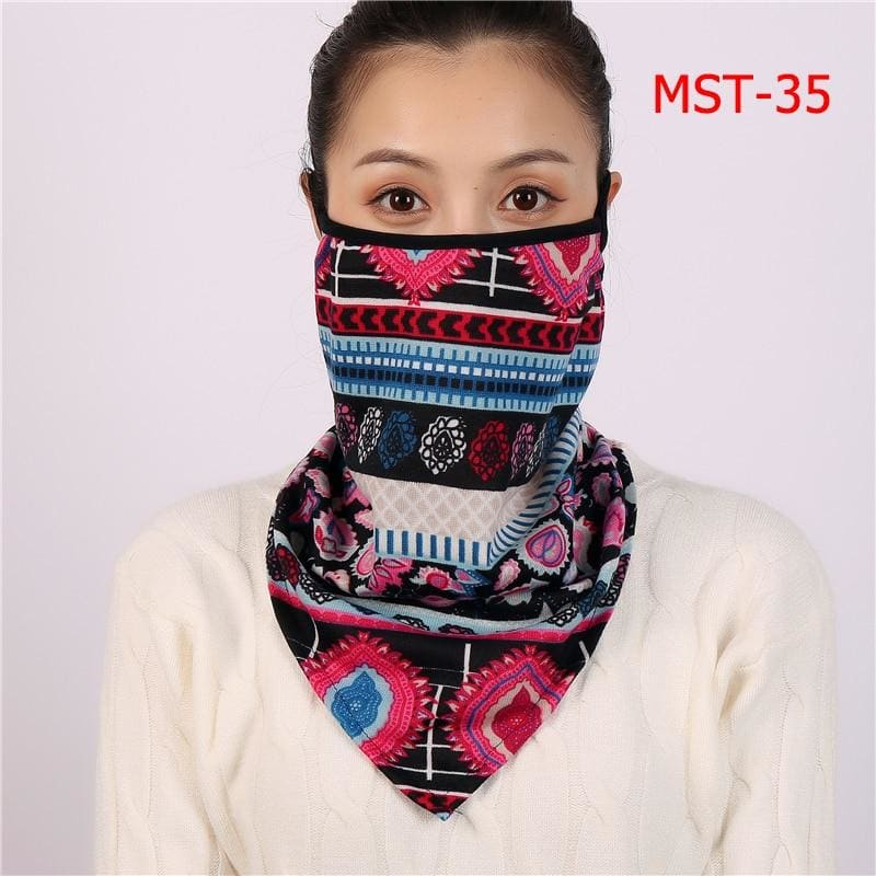 Cotton face cover scarf - mst-35