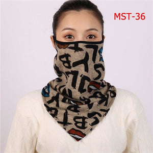 Cotton face cover scarf - mst-36