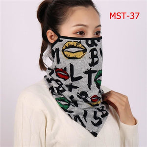 Cotton face cover scarf - mst-37