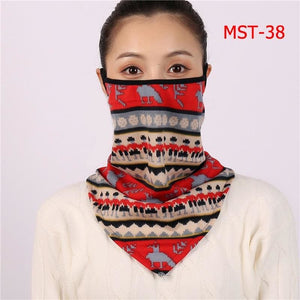 Cotton face cover scarf - mst-38
