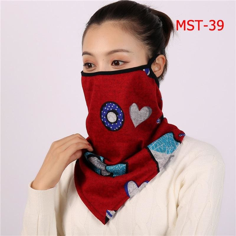 Cotton face cover scarf - mst-39