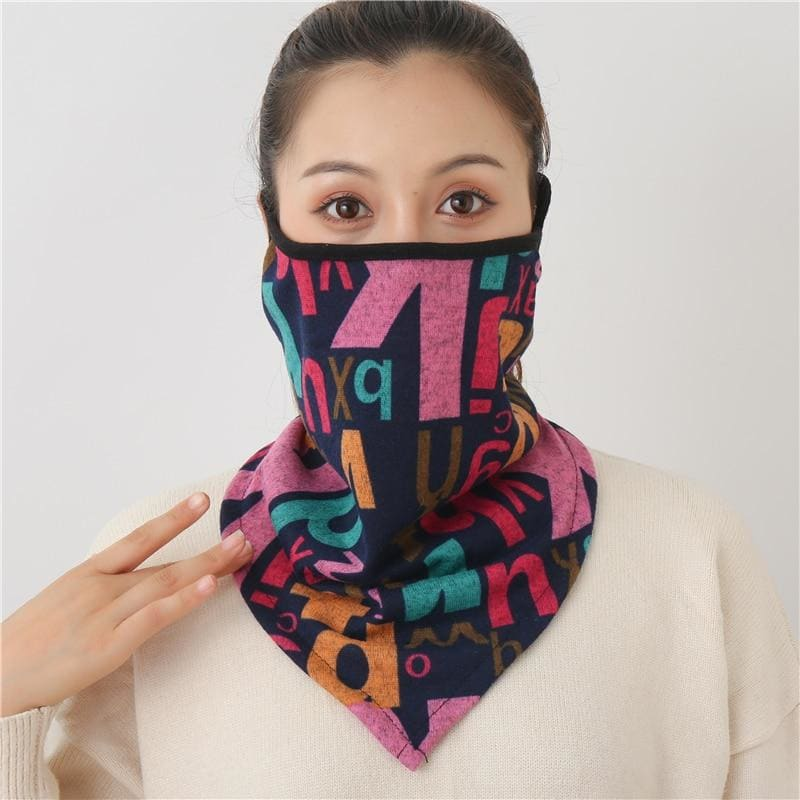 Cotton face cover scarf - mst-4