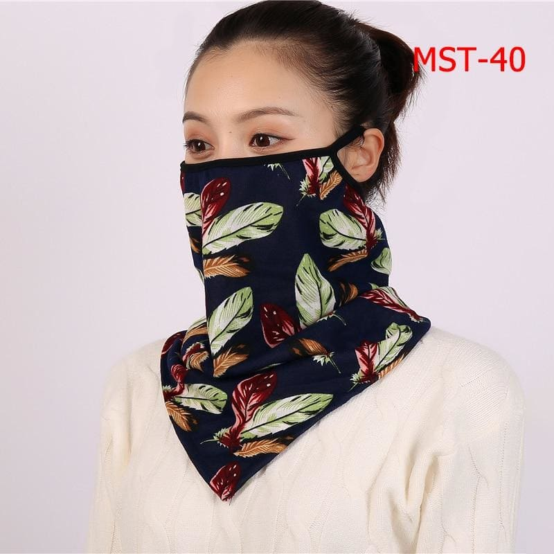 Cotton face cover scarf - mst-40