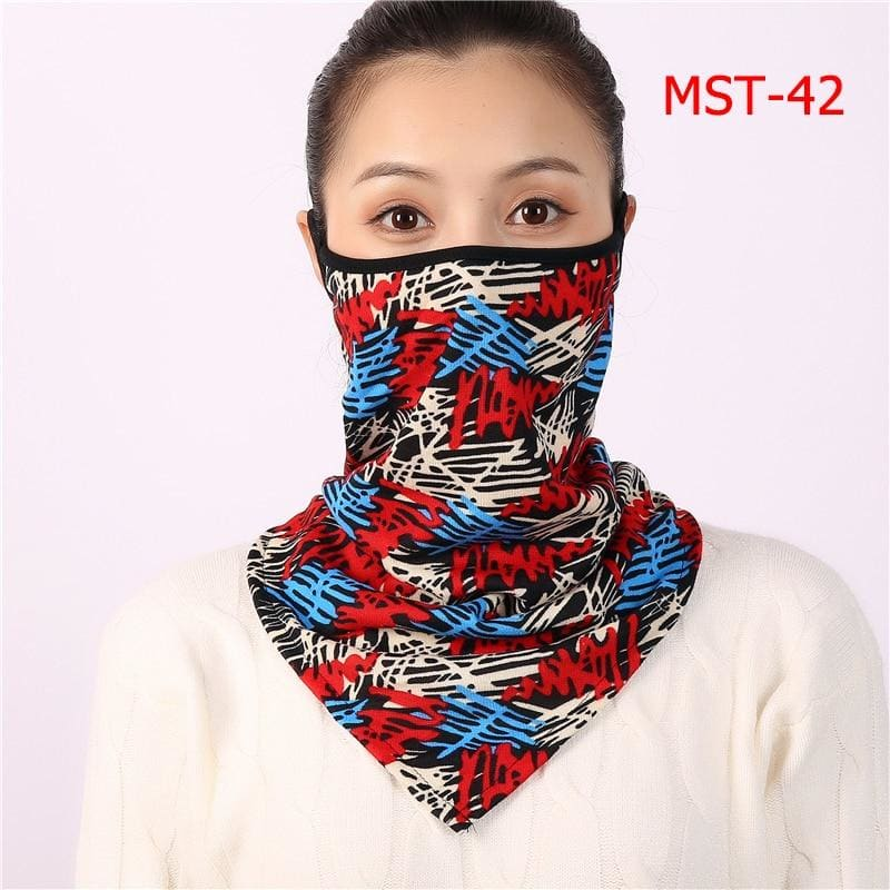 Cotton face cover scarf - mst-42