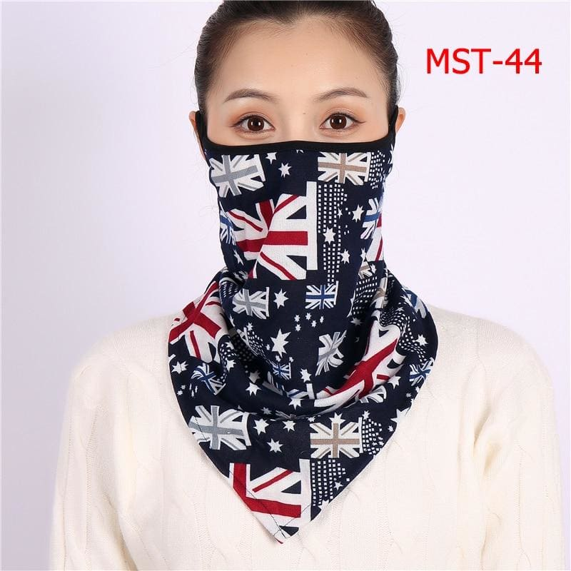 Cotton face cover scarf - mst-44