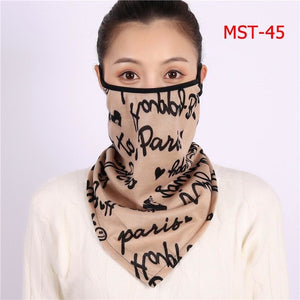 Cotton face cover scarf - mst-45