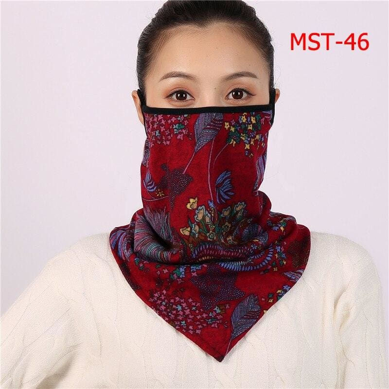 Cotton face cover scarf - mst-46
