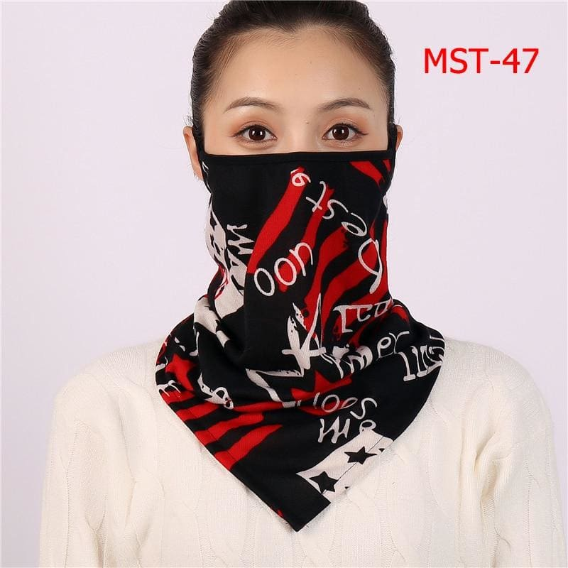 Cotton face cover scarf - mst-47