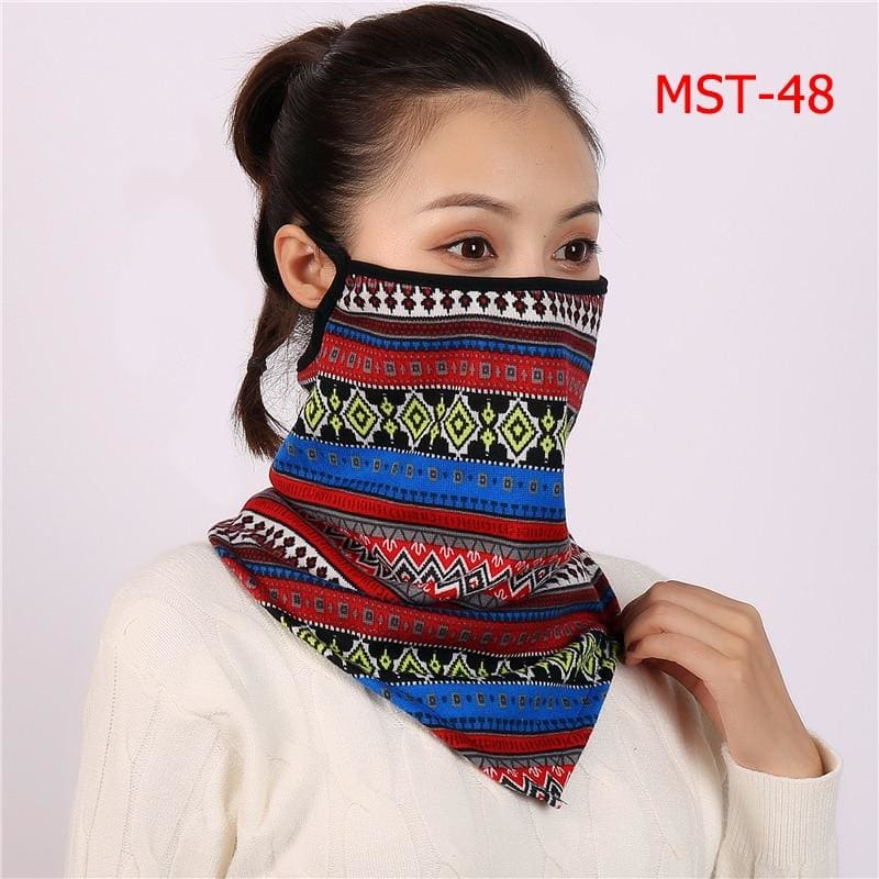 Cotton face cover scarf - mst-48