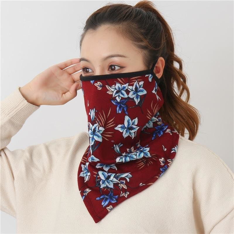 Cotton face cover scarf - mst-5