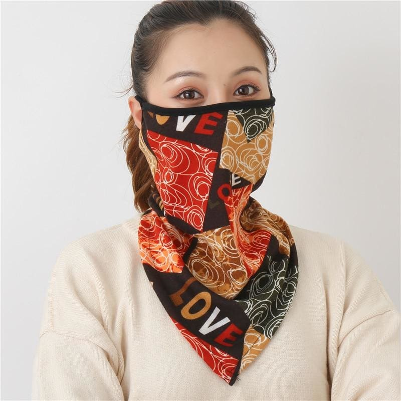 Cotton face cover scarf - mst-6