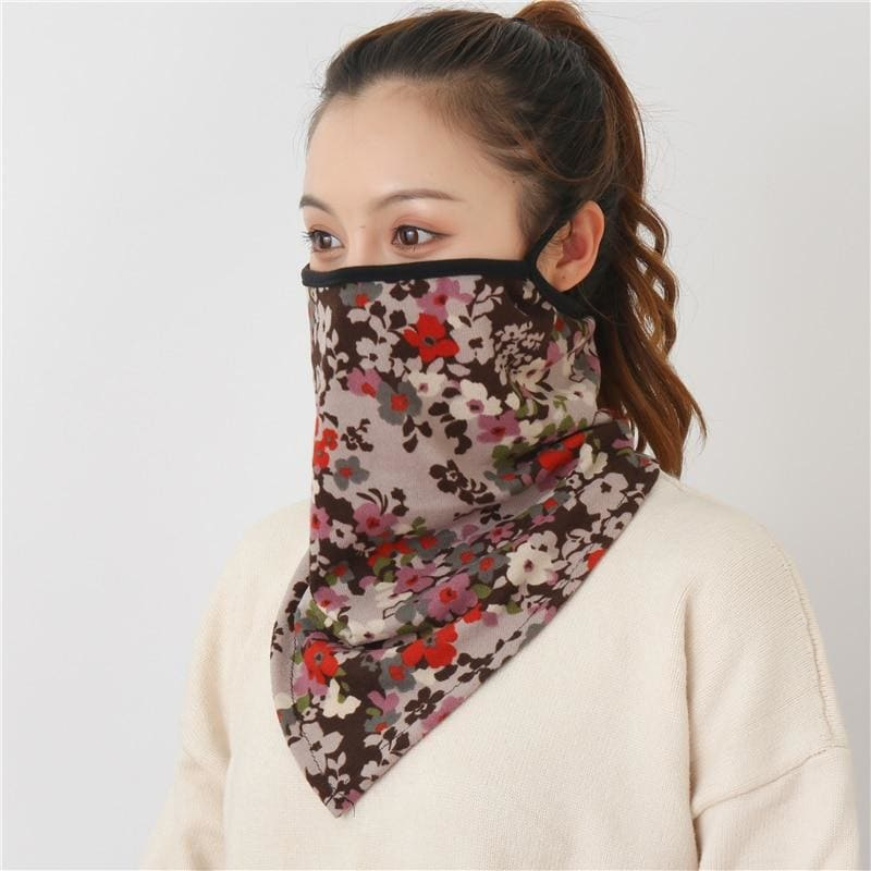 Cotton face cover scarf - mst-8