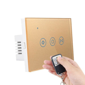 Curtain controller smart switch - gold with remote /