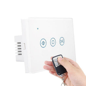 Curtain controller smart switch - gray with remote /