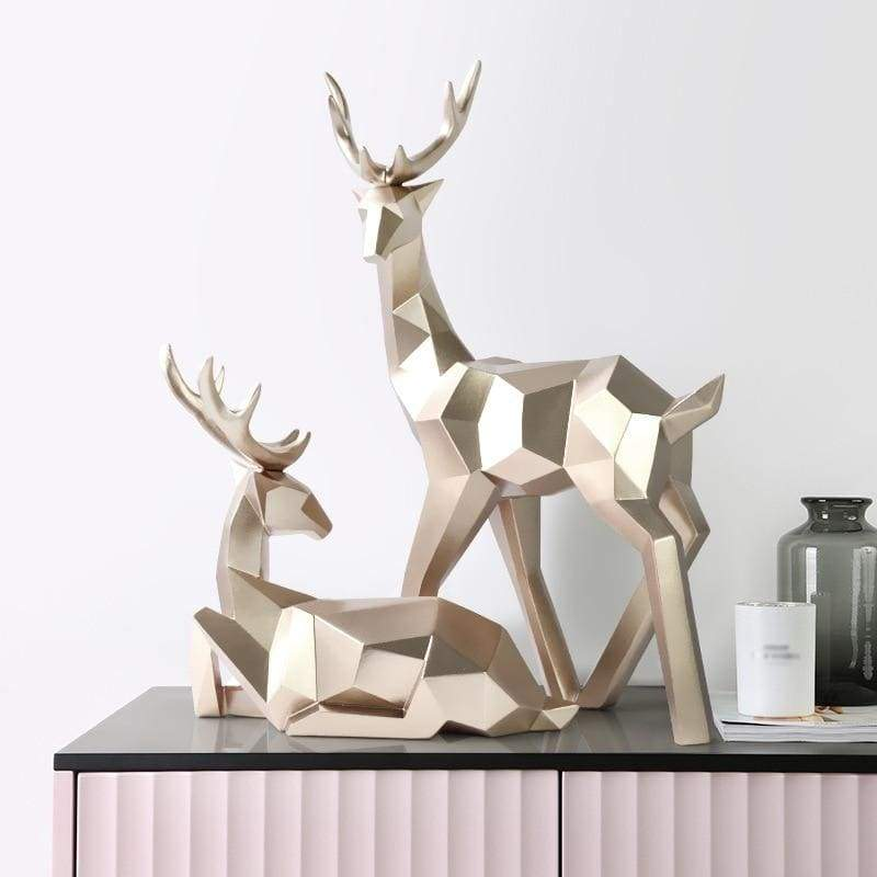Deer sculpture - gold - home decor 3