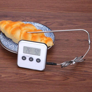 Digital instant meat thermometer - white