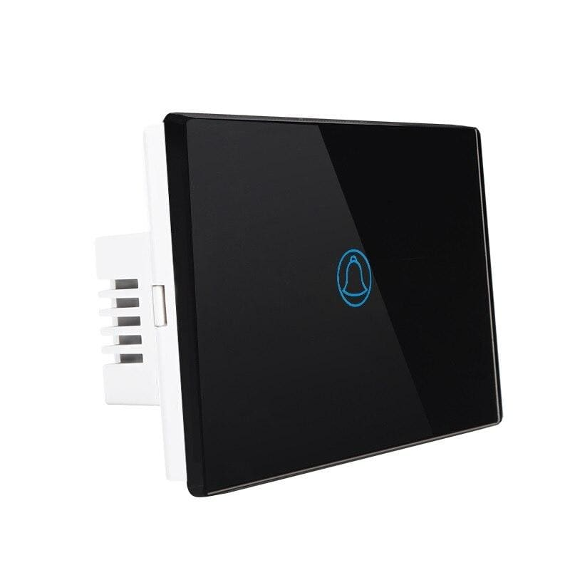 Door bell switch - black / us standard - smart switches
