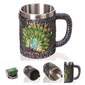 Dragon mug just for you - peacock - mugs