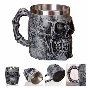 Dragon mug just for you - silver skull king - mugs