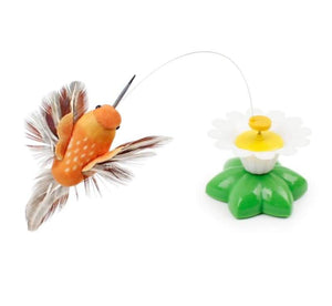 Electric rotating cat toy - bird - cat toys