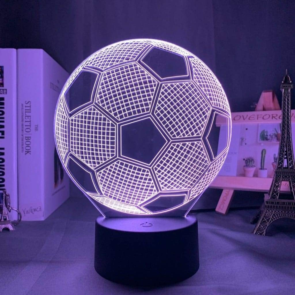 Football 3d led night light - 7 colors no remote - illusion