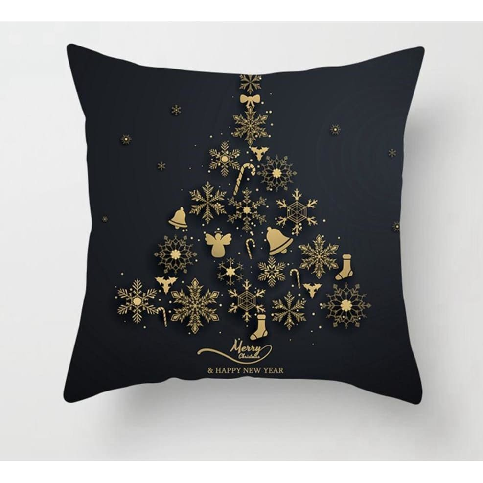 Gold black pillowcase - xmas 1 - 200223143 fast shipping