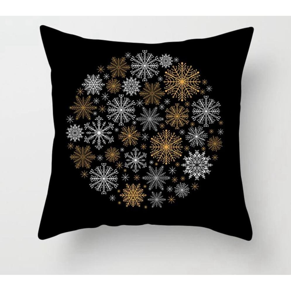 Gold black pillowcase - xmas 10 - 200223143 fast shipping