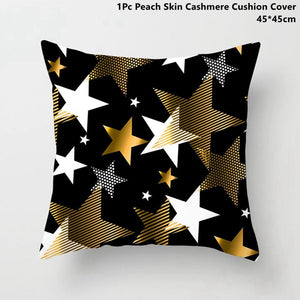 Gold black pillowcase - xmas 12 - 200223143 fast shipping